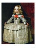 Infanta Margarita Teresa in White Garb Giclee-trykk av Diego Vel?uez