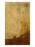 Dog, Half Submerged, on of the Black Paintings from the Quinta Del Sordo, Goya&#39;s House, 1819-1823 Reproduction proc&#233;d&#233; gicl&#233;e par Francisco de Goya