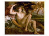 Mars, Venus, and Amor Reproduction proc&#233;d&#233; gicl&#233;e par Titian (Tiziano Vecelli) 