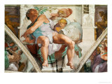 The Sistine Chapel; Ceiling Frescos after Restoration, the Prophet Jonah Giclee Print by Michelangelo Buonarroti