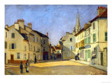 Rue De La Chaussee in Argenteuil, 1872 Giclee Print by Alfred Sisley