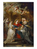 The Holy Virgin Appears to Saint Ildefonso Giclee Print by Peter Paul Rubens