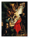 Altar: Descent from the Cross, Central Panel Reproduction procédé giclée par Peter Paul Rubens
