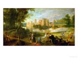 The Palace Garden, circa 1635 Giclée-Druck von Peter Paul Rubens
