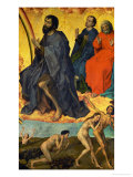 Saint John the Baptist with Resurrection of the Dead Giclee Print by Rogier van der Weyden