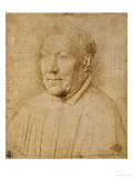 Cardinal Niccolo Albergati (1375-1443), Red Crayon Drawing Giclee Print by Jan van Eyck