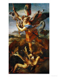 Saint Michael Slaying the Demon, 1518 Giclee Print by Raphael 