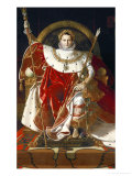 Napoleon on His Imperial Throne, 1806 Giclée-Druck von Jean-Auguste-Dominique Ingres