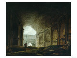Interior of the Colosseum, Rome Giclee Print by Hubert Robert