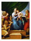 Madonna with a Fish (In the Hand of Young Tobias, Accompanied by the Archangel Raphael) Reproduction proc&#233;d&#233; gicl&#233;e par Raphael 