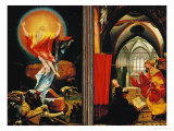 The Isenheim Altar: Christ Resurrection, Annunciaton, Limewood, Around 1515 Giclee Print by Matthias Grünewald