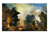 La Fete a St. Cloud, a Celebration in St. Cloud Giclée-Druck von Jean-Honoré Fragonard