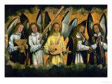 Angels Making Music; Left Panel of a Triptych Giclée-Druck von Hans Memling