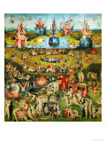 The Garden of Delights, Triptych, Center Panel Gicléedruk van Hieronymus Bosch