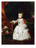 The Infante Philipp Prosper (1657-1661) Giclee Print by Diego Velázquez