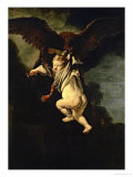 Ganymede in the Claws of the Eagle (Zeus), 1635 Giclee Print by Rembrandt van Rijn