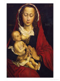 Madonna and Child, Left Panel of a Diptych, the Right Wing in the Musee Des Beaux Arts, Brussels Giclee Print by Rogier van der Weyden
