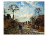 Street in Louveciennes, 1872 Giclee Print by Camille Pissarro