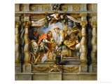 Abraham Offers Tithes to Priest-King Melchizedek of Salem Giclee Print by Peter Paul Rubens