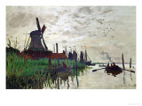 Windmill at Zaandam (Netherlands), 1871 Giclee Print by Claude Monet