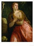 Mary Magdalen Penitent, 1583 Giclée-Druck von Paolo Veronese
