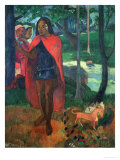 The Magician of Hiva Oa or the Marquisian Man with the Red Cape, 1902 Giclee Print by Paul Gauguin