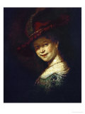 Saskia Van Uylenburgh (Rembrandt's Wife Whom He Married in 1634) Reproduction procédé giclée par Rembrandt van Rijn