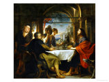 The Dinner at Emmaus Giclee Print by Peter Paul Rubens