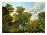Spring, or Paradise on Earth, 1660-64 Giclée-Druck von Nicolas Poussin