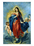 Immaculate Conception, 1627 Reproduction proc&#233;d&#233; gicl&#233;e par Peter Paul Rubens