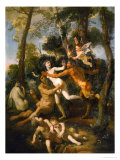 Pan and Syrinx: Syrinx Giclee Print by Nicolas Poussin