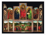 The Ghent Altar, Polyptych with the Adoration of the Mystical Lamb, 1432 Giclee Print by  Jan van Eyck