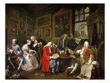 Marriage a La Mode: The Death of the Countess, circa 1742-44 Impression giclée par William Hogarth