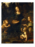 The Madonna of the Rocks Giclee Print by Leonardo da Vinci 