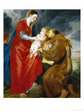 The Virgin Presents the Infant Jesus to Saint Francis, 1618 Giclee Print by Peter Paul Rubens