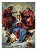 The Coronation of the Virgin Giclee Print by Diego Vel&#225;zquez