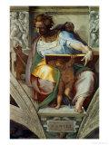 The Sistine Chapel; Ceiling Frescos after Restoration, the Prophet Daniel Giclée-Druck von  Michelangelo Buonarroti