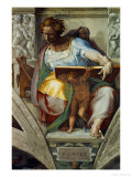 The Sistine Chapel; Ceiling Frescos after Restoration, the Prophet Daniel Giclee Print by  Michelangelo Buonarroti