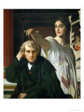 Composer Luigi Cherubini and Muse Giclee Print by Jean-Auguste-Dominique Ingres