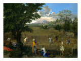 Summer or Ruth and Boaz, 1660-1664 Stampa giclée di Nicolas Poussin