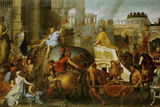 Alexander the Great Enters Babylon Giclée-tryk af Charles Le Brun