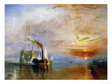 The Temeraire Towed to Her Last Berth (Aka the Fighting Temraire) Giclée-tryk af J. M. W. Turner