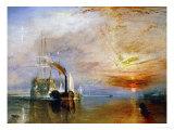 The Temeraire Towed to Her Last Berth (AKA The Fighting Temraire) Giclée-Druck von J. M. W. Turner