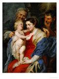 The Holy Famioy with Saint Anne Impression giclée par Peter Paul Rubens