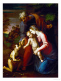 Holy Family with Young John Baptist Reproduction proc&#233;d&#233; gicl&#233;e par Raphael 