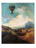 The Balloon, or the Rising of the Montgolfiere Lámina giclée por Francisco de Goya