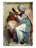 The Sistine Chapel; Ceiling Frescos after Restoration, the Persian Sybil Giclée-Druck von  Michelangelo Buonarroti