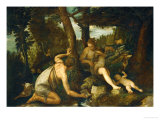 Adam and Eve after the Expulsion from Paradise Giclée-Druck von Paolo Veronese