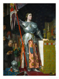 Joan of Arc at the Coronation of King Charles VII at Reims Cathedral, July 1429 Reproduction procédé giclée par Jean-Auguste-Dominique Ingres