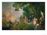 Embarkation for the Island of Cythera, 1718 Giclee Print by Jean Antoine Watteau